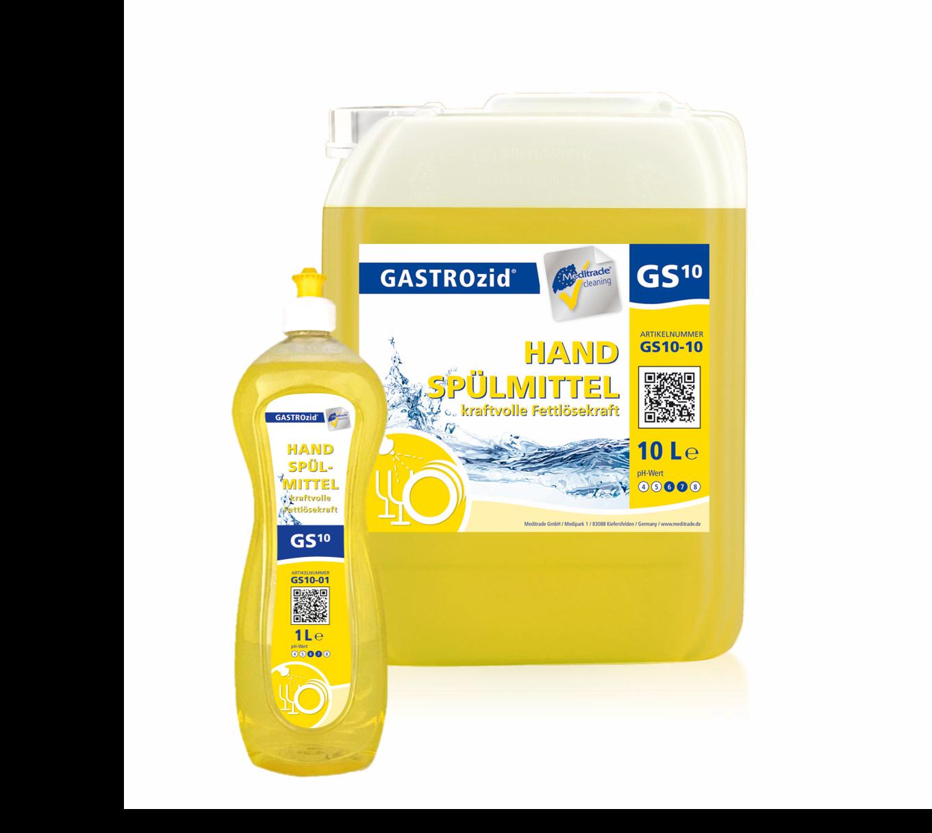 GS10 Handspülmittel | kraftvolle Fettlösekraft