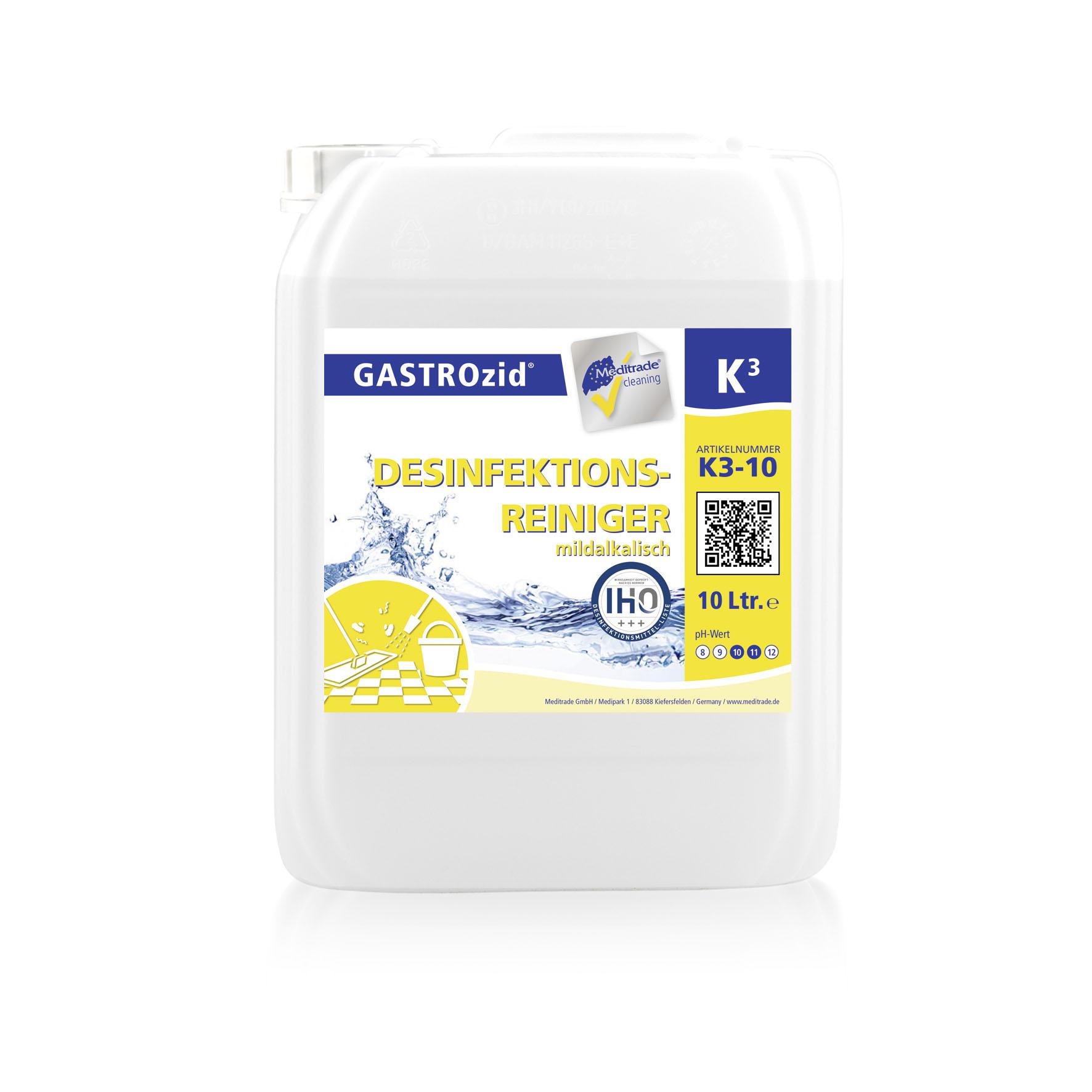 K3 Desinfektionsreiniger | mildalkalisch