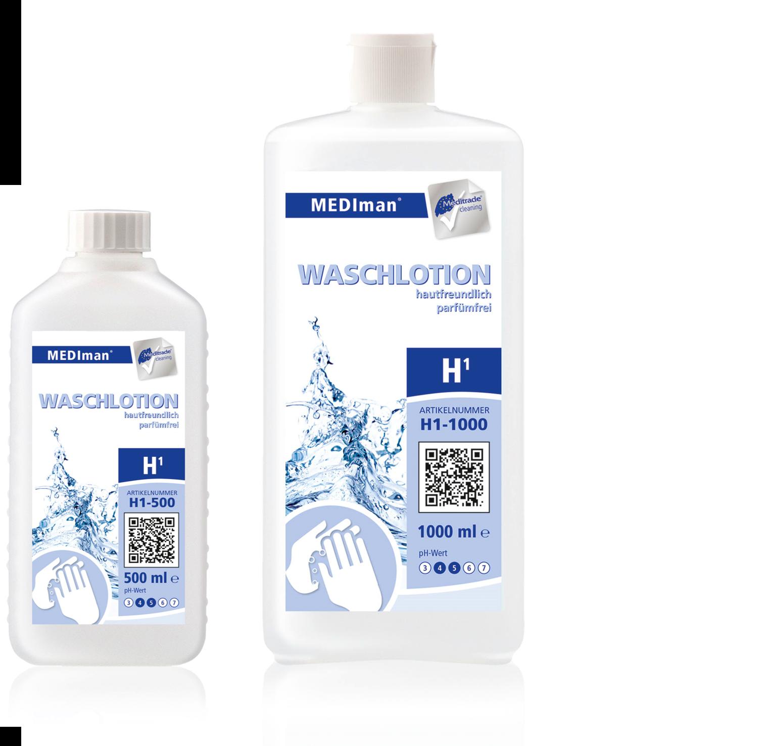 H1 WASCHLOTION   hautfreundlich, parfümfrei